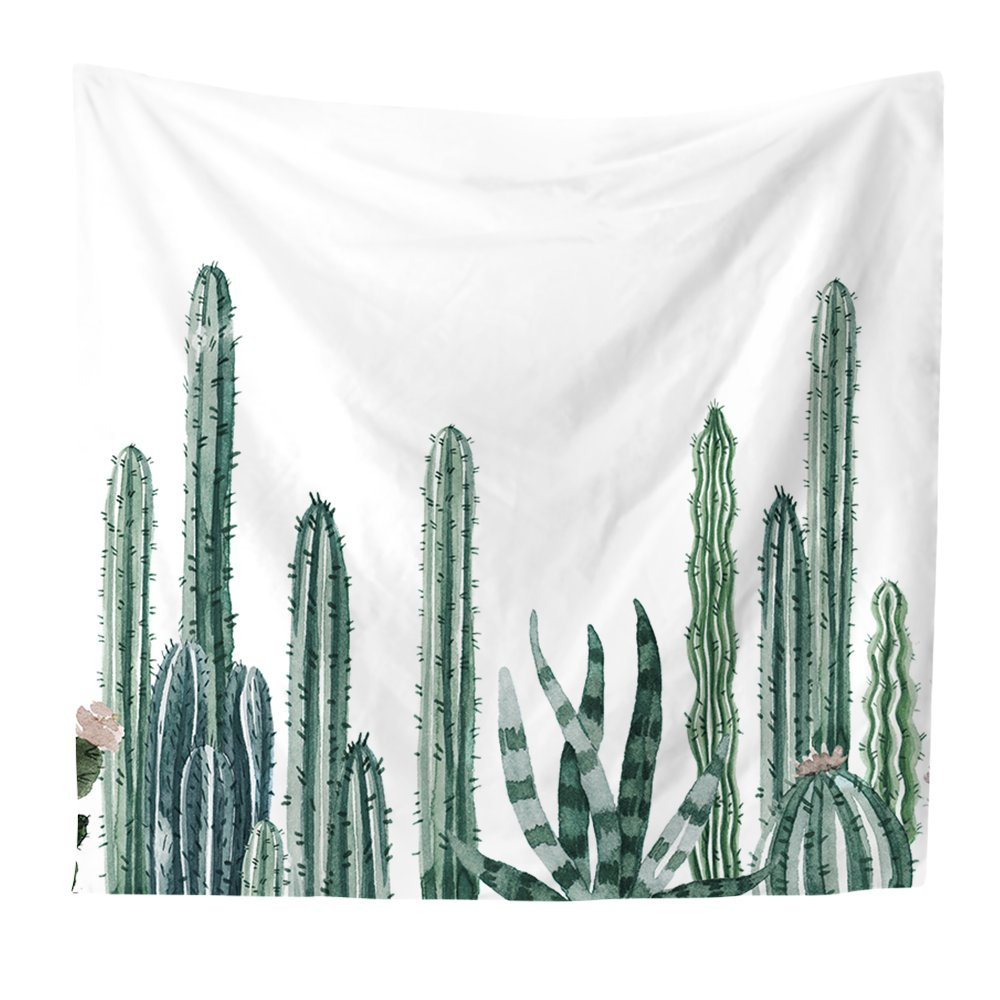 Beach Throw KRWHTS Cactus Plant Wall Hanging Tapestries Nature Bohemian Cactus Tapestry Throw Hanging Wall Decor Table Runner//Cloth /並/行/輸/入/品