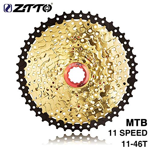 Bvnmghjbmghj ZTTO 11-Fach Kassette 11-46T Kompatibles Rennrad Shimano Sram System Hochfeste Stahlkettenräder - Gold
