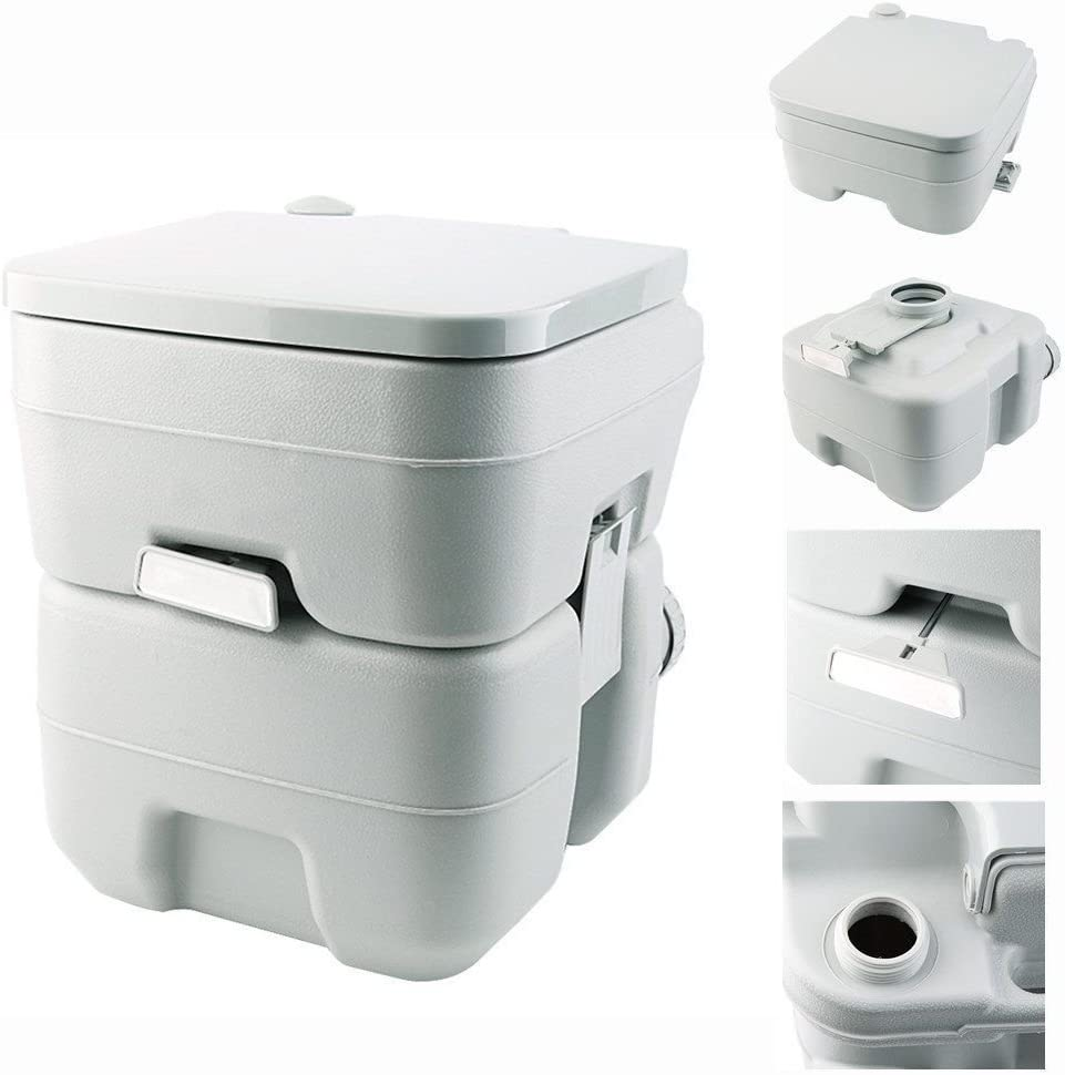 Preup - Inodoro de campamento portátil, 20 L, para viajes, inodoro químico para caravanas y casas rodante
