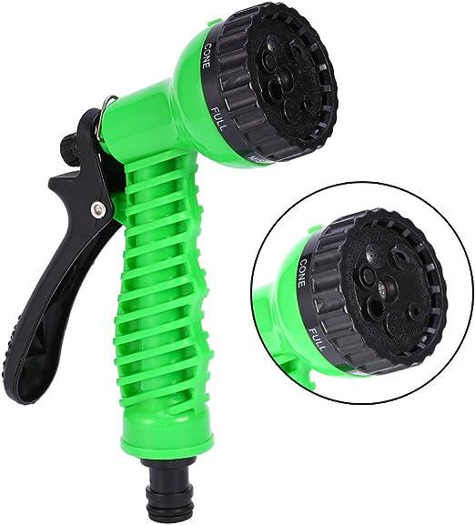 Verde Plastico Pistola de Agua de Jardín de Espuma Alta Presión Pistola de Lavado de Autos para Manguera con 7 Patrones de Riego: Amazon.es: Jardín