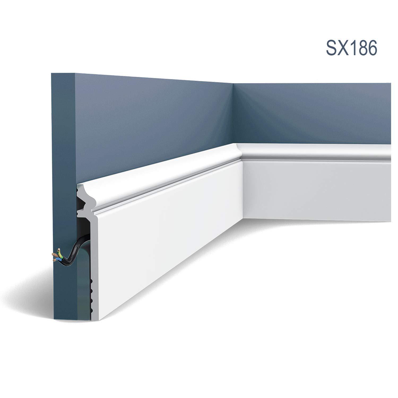 Z/ócalo Orac Decor SX186 LUXXUS CONTOUR Moldura decorativa Perfil de estuco dise/ño 2m