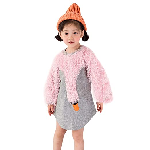 6aabee324c7 Amazon.com  KONFA Teen Toddler Baby Girls Autumn Winter Tops Clothes ...
