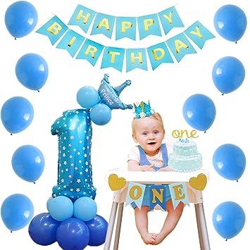 Kreatwow 1er cumpleaños Decoraciones para niños Glitter ...