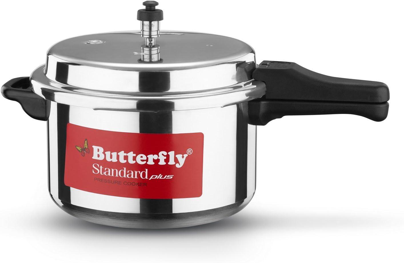 Butterfly SP-7.5L Standard Plus Aluminum Pressure Cooker, 7.5-Liter