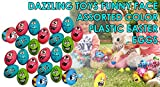 24 Easter Eggs With Funny Faces | Perfect For A Super Egg Hunt | 24 Pieces per Pack | Dazzling Toys