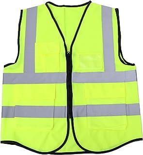 VORCOOL Haute Visibilité Cyclisme Veste D'équitation Multi-Poches Veste De Sécurité Réfléchissante Veste pour Construction Extérieure