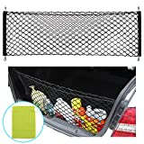#2: AndyGo Rear Cargo Trunk Storage Organizer Net for Car plus mounting points