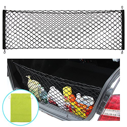 AndyGo Rear Cargo Trunk Storage Organizer Net for Car plus mounting points (Trunk Cargo)