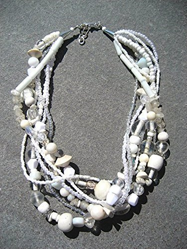 - 'Pure Mom' - White Statement Necklace ~ White Bead Necklace ~ Chunky Beaded Necklace