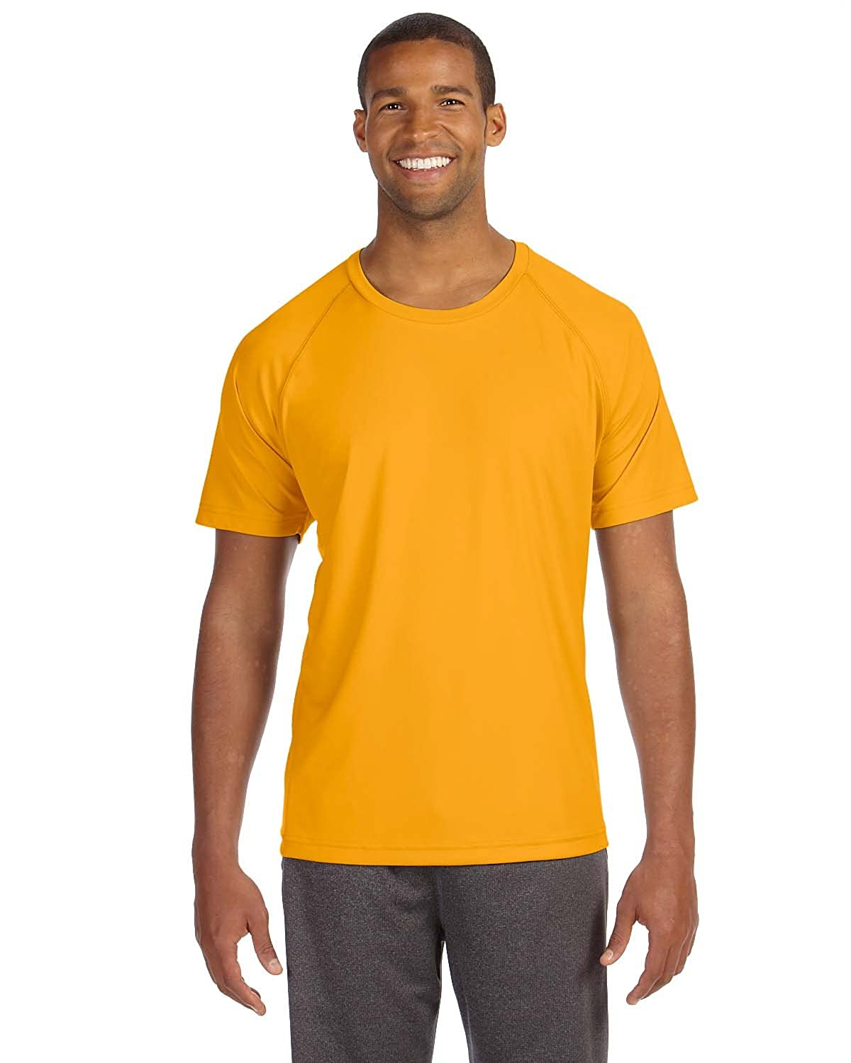 M1029 ALO Sport Performance Short-Sleeve Raglan T-Shirt Athletic Gold 3XL