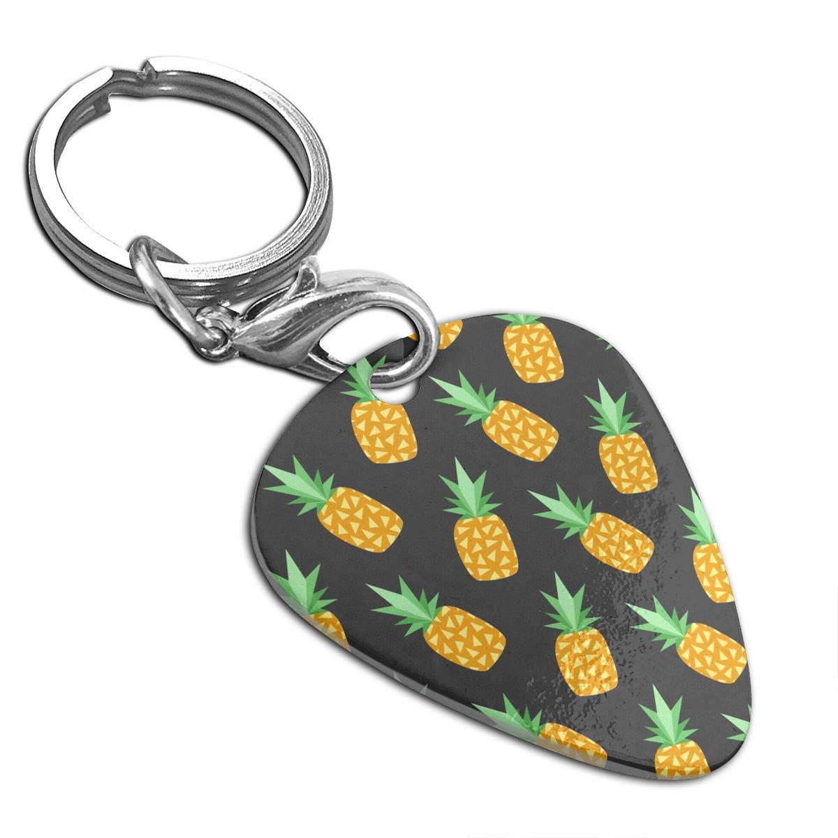 Pineapple Pug Guitar Pick Necklace Unique Custom Fashion Pet Card Keychain