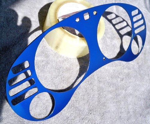 95 96 97 98 Mitsubishi Eclipse MT Turbo /& Non Turbo Billet Aluminum Dash Trim Gauges Cluster Bezel Blue