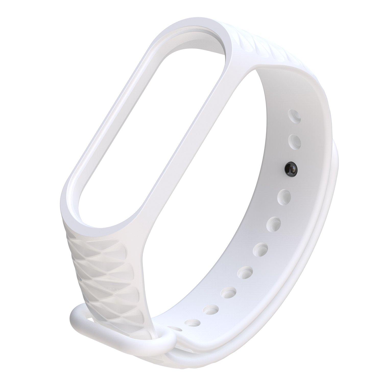 HereMore Lot de 5 Sangle de Remplacement en Souple Silicone Bracelet Accessoires Bande Wristband avec Fermoir pour Xiaomi Mi Band 3