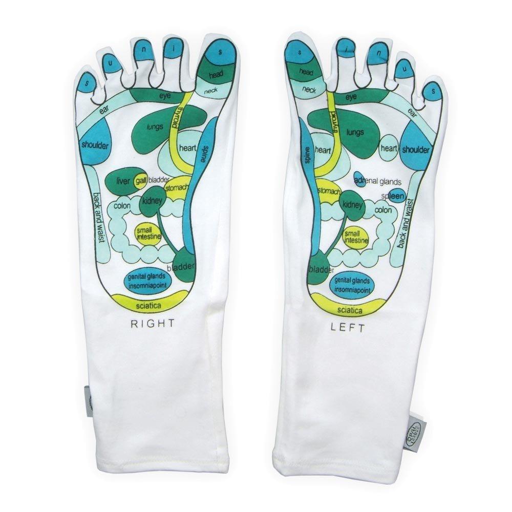 Art Gel Spa Moisturizing Socks / Booties -Gel Finger Reflexology Socks Deluxe Comfort mosi-soc-art-1