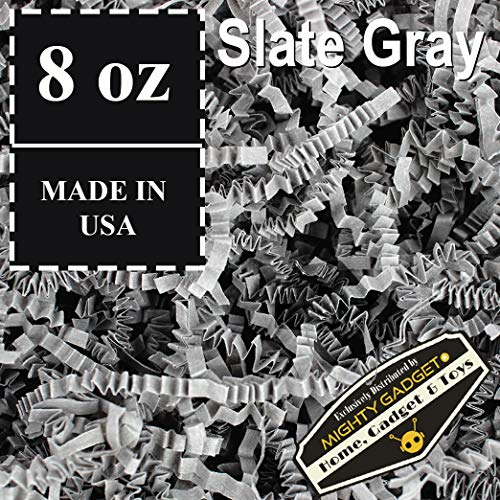 Mighty Gadget (R) 1/2 LB Dark Slate Gray Crinkle Cut Paper Shred Filler for Gift Wrapping & Basket Filling