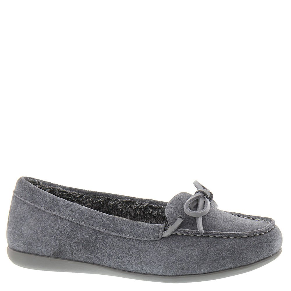 Vionic with Orthaheel Technology Women's Ida Moccasin Slipper,Grey,US 8.5 M