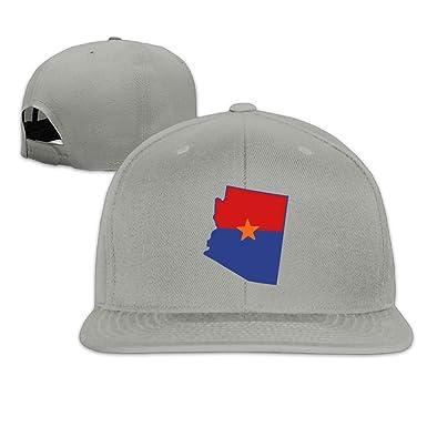 0fe4eebe510cf Jusxout Arizona Star Snapback Unisex Adjustable Flat Bill Visor Baseball Cap  at Amazon Men s Clothing store