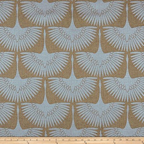 WAVERLY 0560404 Genevieve Gorder Flock Linen Circa Metal Mercury Fabric by The Yard