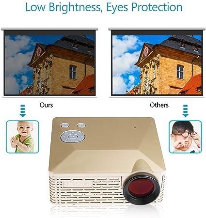 Crenova® BL-18 Mini proyector LED portátil 320x240 Teatro-Cine ...
