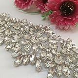 1pcs Bridal Dress Wedding Applique Belt Diamante Sweet Heart Rhinestone Sash Rhinestones Pearls Crys