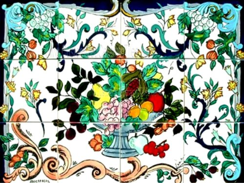 Hand Painted Ceramic Wall Tile - 9
