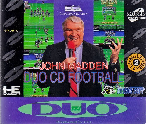 John Madden Duo CD Football TG16 Turbo Grafx 16