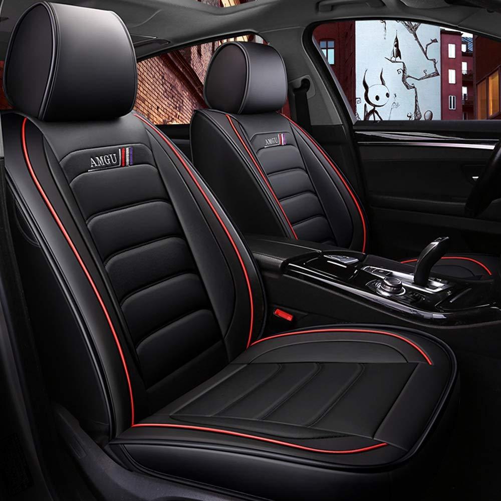 Juego Completo de 5 Asientos Airbags Compatibles Delanteros Y Traseros Coj/ín Protector de Confort de Cuero Transpirable DaFei Fundas para Asientos de Autom/óvil Color : Beige