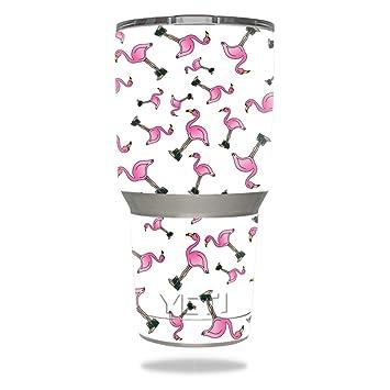 c9595231574 MightySkins Protective Vinyl Skin Decal for YETI 30 oz Rambler Tumbler wrap  cover sticker skins Cool Flamingo