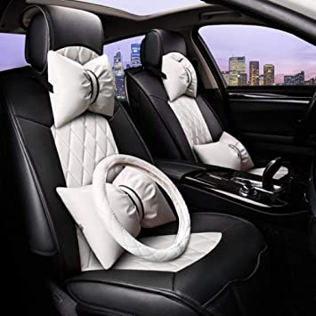 Cojín del asiento interior del coche C Cubierta del volante ...