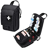 WYNEX Tactical Rip Away First Aid Pouch, Laser-Cut Design Molle EMT Bag Survival IFAK Pouches Blow Out Emergency Medical…