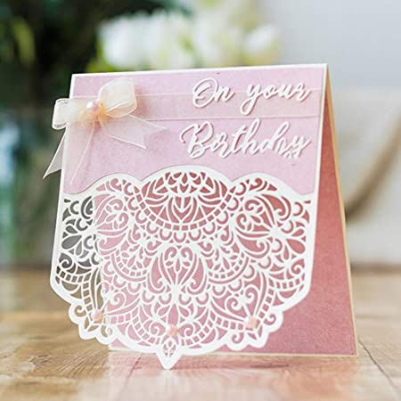 10 Joyeux Anniversaire sentiment Coeur Fabrication Carte Scrapbooking Craft Embellissement
