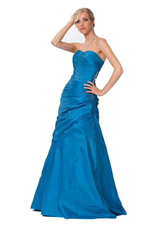Gorgeous Corset Ball Gown Prom Dress, puffy evening dress in Blue and Green colours - ED8836: Amazon.co.uk: Clothing