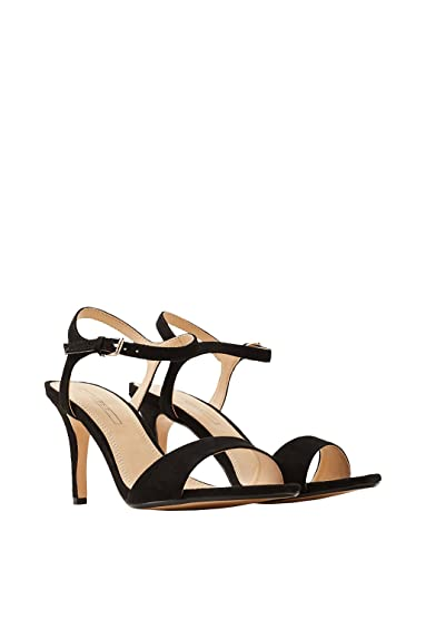 Esprit Elegante Sandalette in softer Velours-Optik für Damen, Größe 40, Black