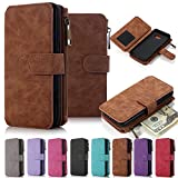 Galaxy Note 5 Case, Note 5 Case iNNEXT Note 5 Wallet Case Premium PU Leather Folio Book Style Multiple Card Slots Cash Pocket with Magnetic Closure Case Cover for Samsung Galaxy Note 5