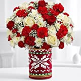Floral Christmas Belief - eshopclub Same Day Christmas Flower Delivery - Online Christmas Flowers - Christmas Flowers Bouquets & Plants - Send Christmas Centerpiece