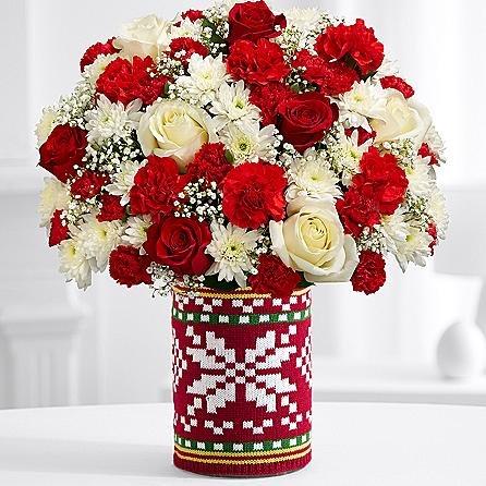 Floral Christmas Belief - eshopclub Same Day Christmas Flower Delivery - Online Christmas Flowers - Christmas Flowers Bouquets & Plants - Send Christmas Centerpiece by eshopclub