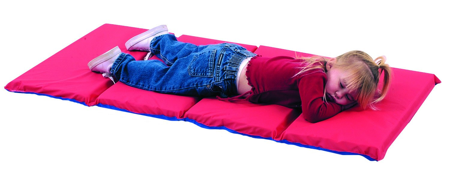 High School Rest Mat (4 Section 24 x 48 x 1 - Red and Blue in 10 Pack) by Children's Factory   B004H2TS6Y