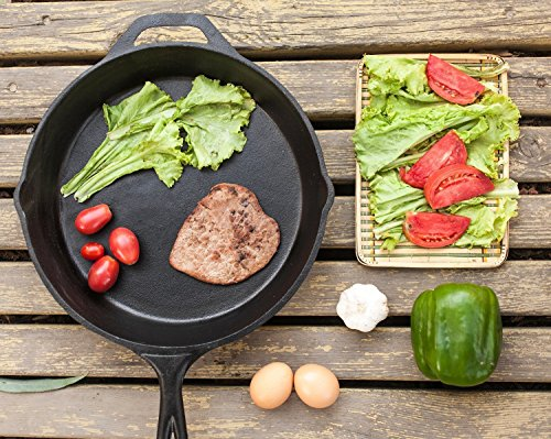 12.5 Inch Pre-Seasoned Cast Iron Skillet with Silicone Handle - Utopia Kitchen by Utopia Kitchen (Image #4)