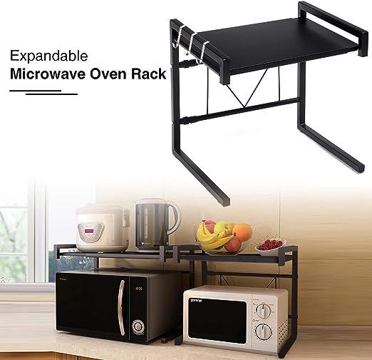 Amazon.com: gemitto extensible Horno de microondas rack de ...