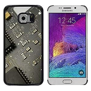 Caucho caso de Shell duro de la cubierta de accesorios de protección BY RAYDREAMMM - Samsung Galaxy S6 EDGE - PCB Junta Transistor