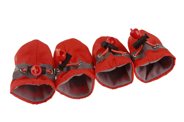 Pet Dog Shoes Boots,Winter Waterproof Reflective Anti Slip Rain Boots Adjustable Warm Socks Sneaker