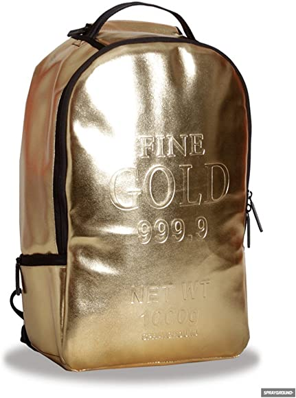 c0879ef27a9f Amazon.com | Sprayground Gold Brick Backpack - All | Casual Daypacks