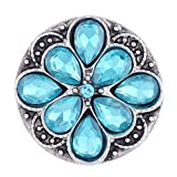 Wholesale Vocheng Glam Blue Rhinestone 18mm Snap Charm Vn-102920 Pack of 20pcs