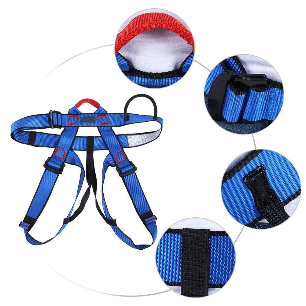 imbracatura anticaduta di sicurezza Kit di imbracature di sicurezza Black cintura di sicurezza a met/à corpo per arrampicata su roccia alpinismo in corda doppia