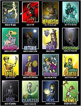 Greek Gods and Goddesses Posters (Set of 16) Wall Chart – 2013