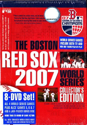 (The 2007 Boston Red Sox Complete 4 Game World Series and Alcs Playoff Games 5,6 & 7 : With Bonus Disc : 8 Discs)