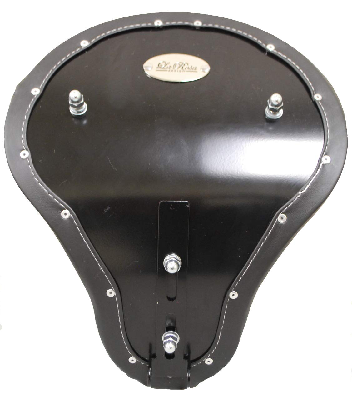 La Rosa Harley-Davidson Chopper Bobber 16 Eliminator Solo Seats Black with White Thread Diamond Tuk