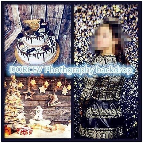 DORCEV 10x8ft Snow Scence Bokeh Backdrop Dreamy White Bokeh Snowflake Baby Shower Birthday Party Photography Background Snow White Worls Theme Banner Kids Adults Portrait Photo Studio Props