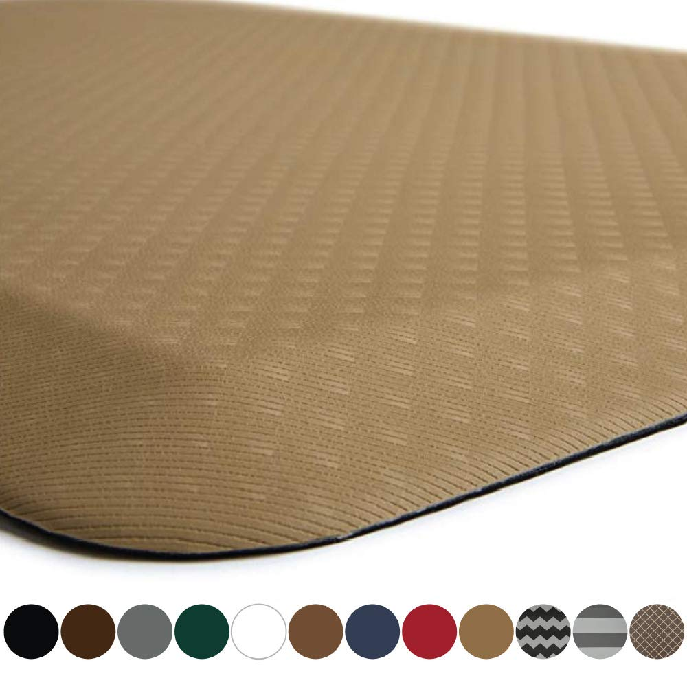 "Kangaroo Brands Original 3/4"" Anti-Fatigue Comfort Standing Mat Kitchen Rug, Phthalate Free, Non-Toxic, Waterproof, Ergonomically Engineered Floor Pad, Rugs for Office Stand Up Desk, 32x20 (Sand)"