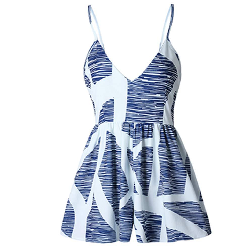 SHEJIAN Summer Romper Women Short Jumpsuit Beach Boho Sleeveless Female Playsuit